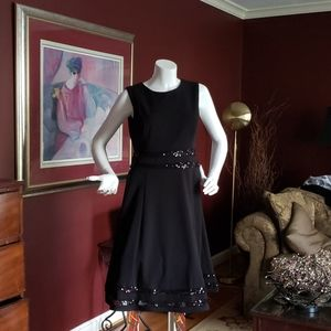 R&M Richards Black Cocktail Dress Sz 8